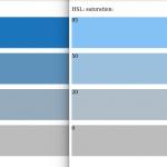Kleurenrange in hex en hsl equivalent
